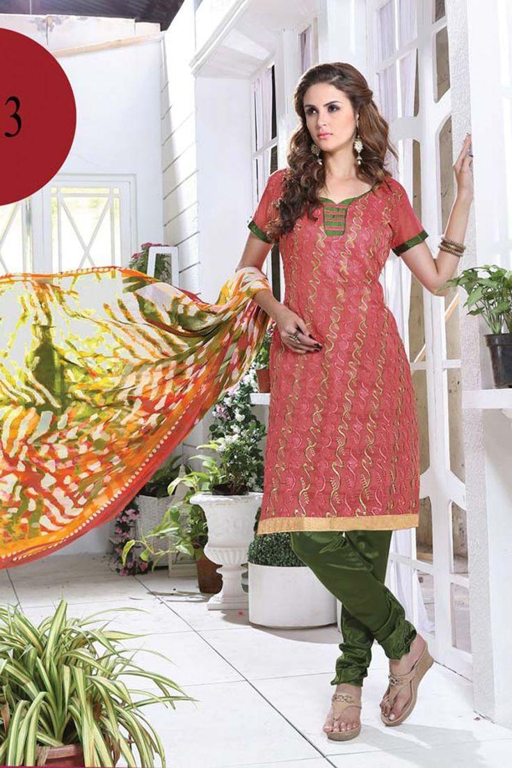 Dusty Pink Chanderi and Silk Salwar Kameez Online Shopping-Heliyana Again