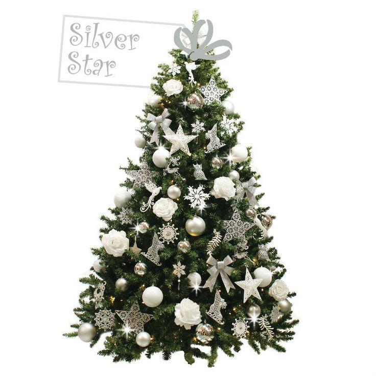Silver Star De Silver Star is een klassieke boom, gedecoreerd in zilver en wit tinten. De uitstraling van de boom is chique en stijlvol. Deze topper is niet voor niets een echte ster. Vorig jaar was de boom al een groot succes bij versierdekerstboom.nl en de boom blijft tijdloos toepasbaar. Met zijn neutrale maar toch sfeervolle versiering glittert en fonkelt de boom dit jaar weer in ons rijtje. Deze ster zal je tegemoet stralen en laat al je wensen uitkomen.
