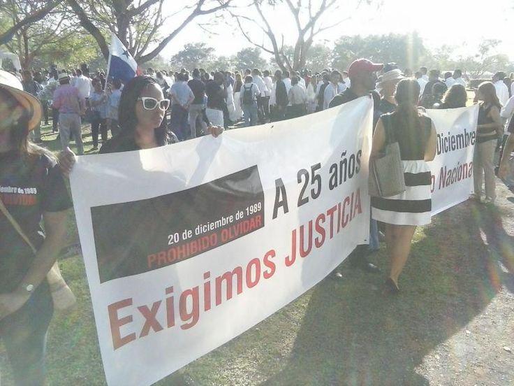 25 años después de la invasión de EU en Panamá, el 20 de diciembre de 1989, hubo actos conmemorativos en el Jardín de Paz, en ciudad de Panamá.