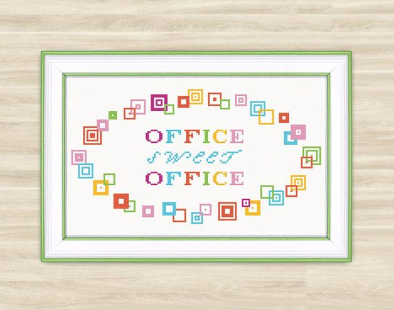 Buy 2 get 1 free Office sweet office Cross Stitch by TimeForStitch