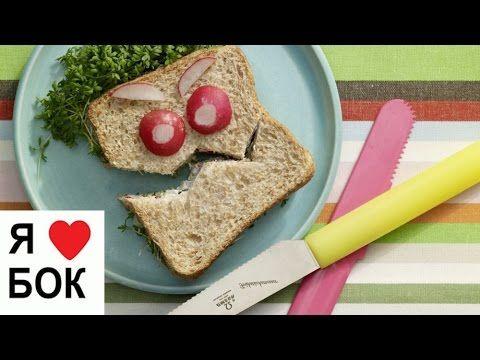 """Детский бутерброд """"Монстр"""". Вкусный и полезный завтрак"""