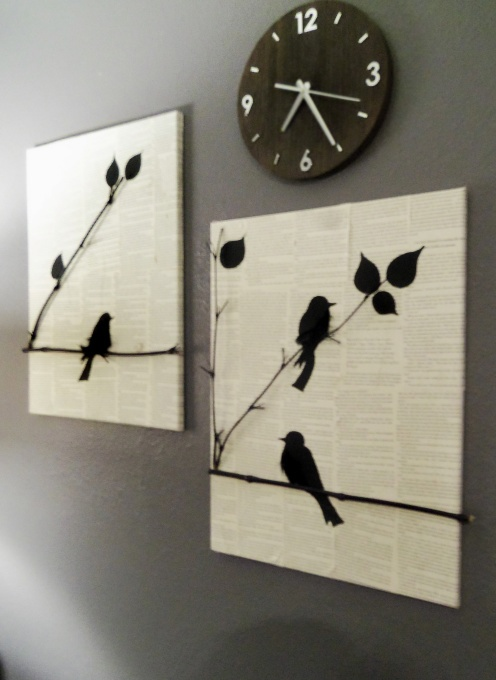 DIY bird canvas