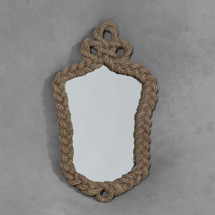 Vintage Rope Effect Small Wall Mirror - H52 x W32 cm