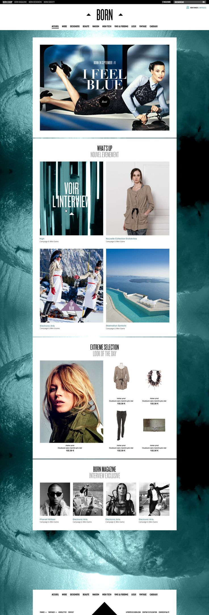 BORN #MAGAZINE - Isabelle Gusching #grid #web #design