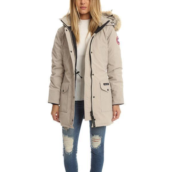 Canada Goose Ladies Trillium Parka ($900) ❤ liked on Polyvore featuring outerwear, coats, women, pink parkas, canada goose parka, canada goose, fleece lined parka and parka coat