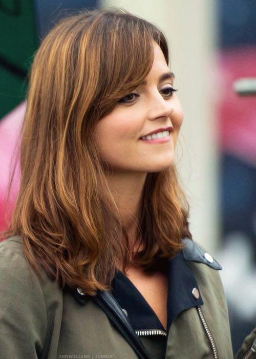 """Clara Oswald   Jenna Coleman   Doctor Who   behind the scenes of """"Flatline"""" in Llanedeyrn, Cardiff 4 June 2014"""