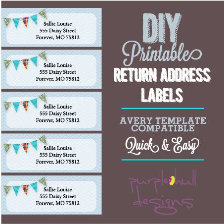 9 best Return Address Labels images on Pinterest Label templates - adress label template