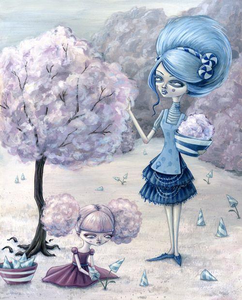 """Cotton Candy Harvest"" by Megan Majewski."