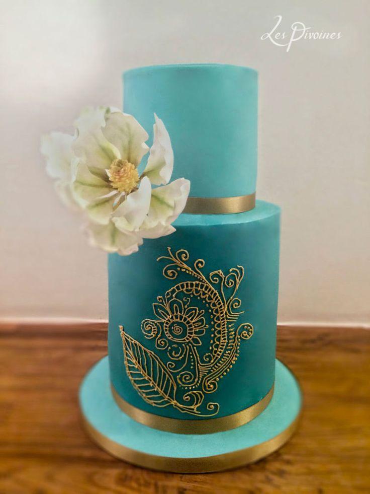 tort de nunta turcoaz