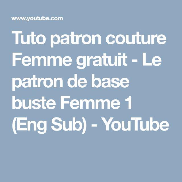 Tuto patron couture Femme gratuit - Le patron de base buste Femme 1 (Eng Sub) - YouTube