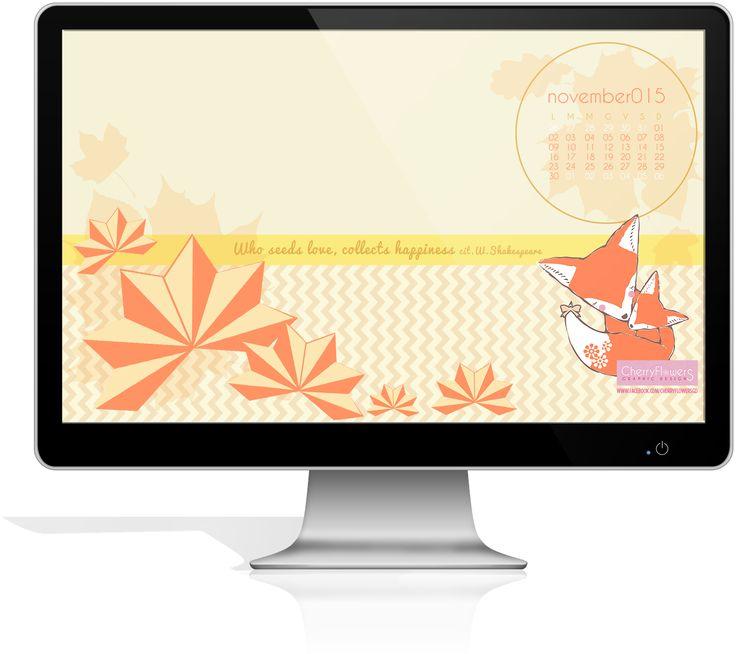 CherryFlowersGD by Susi: Calendario per desktop - mese Novembre2015