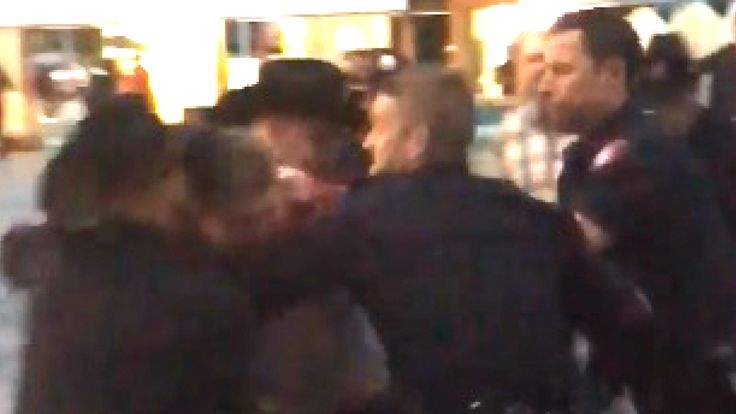 "Calgary police say a video of an arrest at the Stampede Wednesday involved a suspect who was ""heavily intoxicated"" and attempted to grab an officer's Taser."