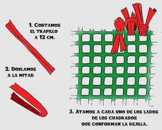 DulcesIlusionesDeMarieta: ALFOMBRAS DE TRAPILLO AL FIN!!!!