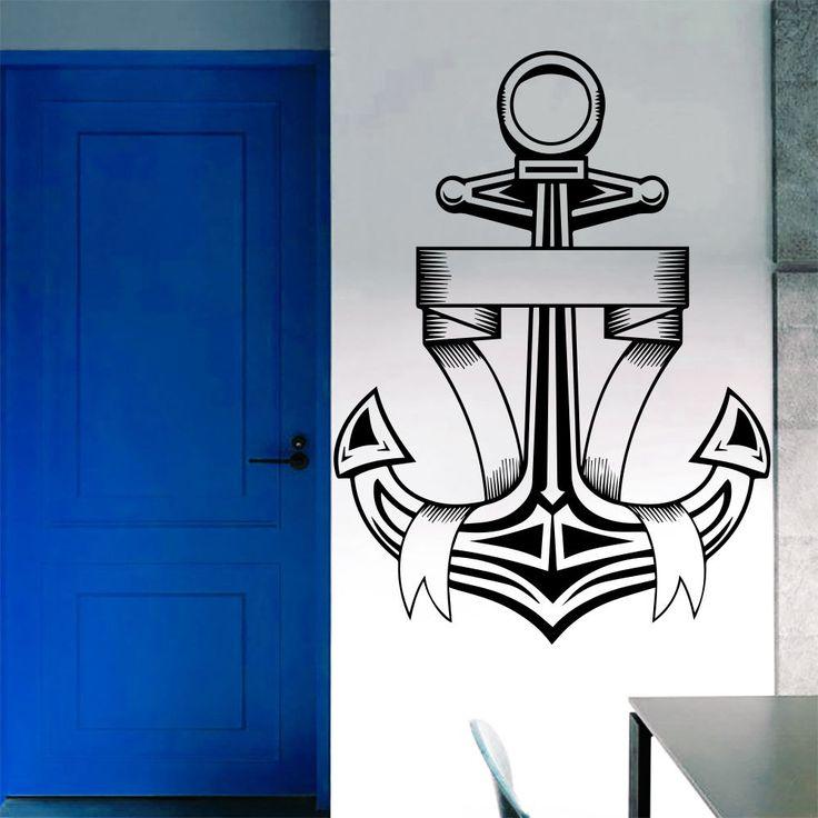 Wall Decal Anchor Tape Nautical Decals Art Bedroom Decor Sticker Murals AM58 #Stickalz