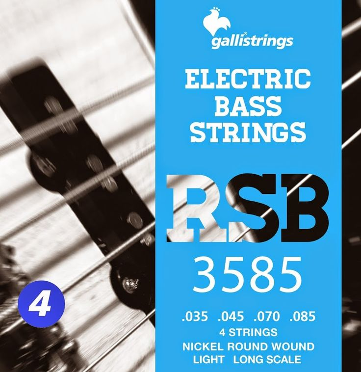RSB 3585 4 strings nickel round wound light .035 -.045 -.070 -.085 RSB A nickel wrapped hexagonal core with a rough surface for those looking for a sparkling timbre, with a metallic sound, and long lasting. Gallistrings delivers the freshest strings stright from our facility to your instrument!