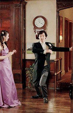 I love dancing. I've always loved it. (gif) #Sherlock series 3 episode 2: The Sign of Three