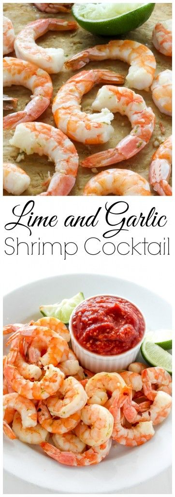 Roasted Lime and Garlic Shrimp Cocktail - a flavorful spin on the classic! Ready in under 15 minutes!