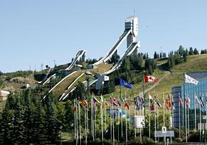 Ski Jumps at Canada Olympic Park, Calgary.: Alberta Calgari, Canadian Places, Alberta Canada, Calgari Olympics, Parks, Calgari Canadaolympicpark, Fame Largest Olympics, Canada Olympics, Calgari Alberta