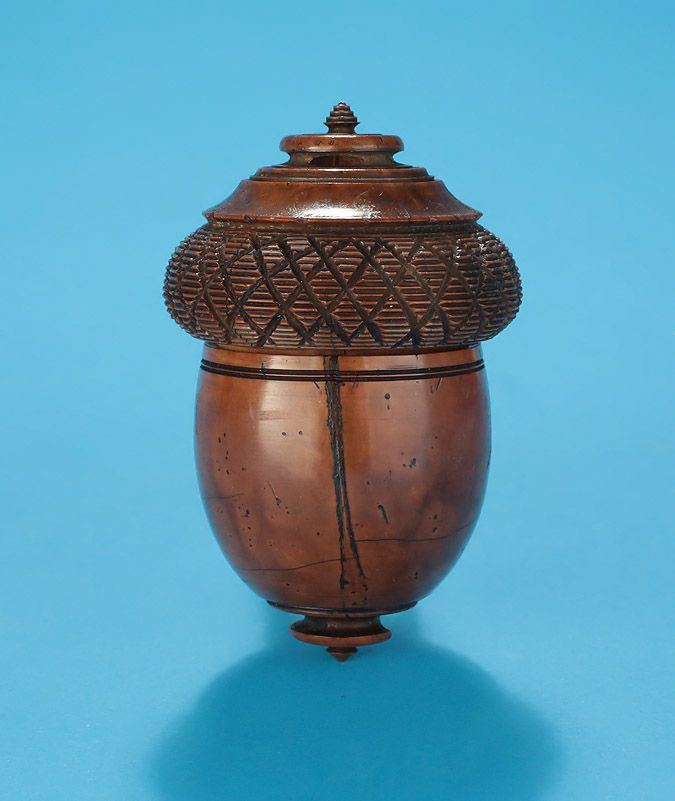 carved coquilla nut nutmeg grater England, Early 19th Century*FOR SALE* Click to read about the history and see more detailed images*