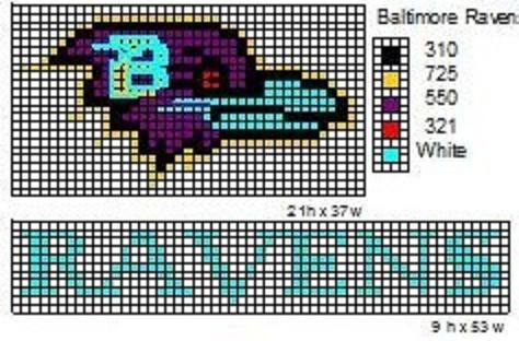 These are the NFL logo and name plate patterns that I use to make scarfs and beenie hats.                           Here is a pattern for th...