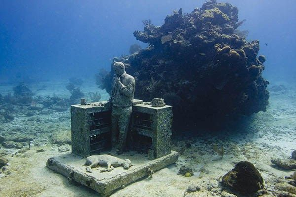 The Spectacular Underwater Museum in Cancun, Mexico #MUSA #Underwater #Cancun #IslaMujeres