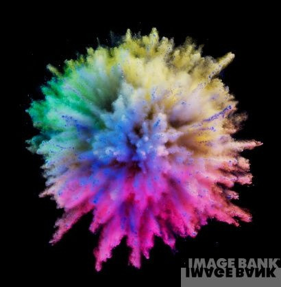 Colourful Iphone X Wallpaper Color Explosion Voorkant Brochure Pinterest