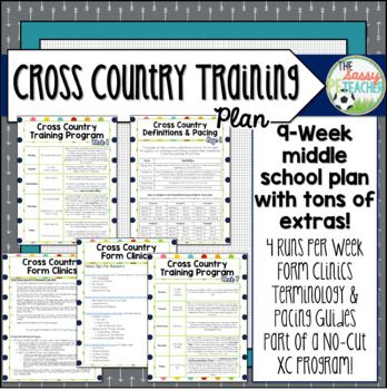 Whether you're a physical educator looking to incorporate more cardiovascular fitness into your classroom, a new cross country coach, or a returning coach looking to switch things up for the upcoming fall season, this 9-week middle school cross country plan