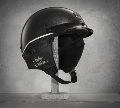 Helmets are a canvas for custom art. The Web Ultra-Light Half Helmet features masterpiece metal flake shimmer. This lighter weight motorcycle half helmet includes a wicking liner and venting to keep you from becoming a hothead.