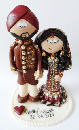 Custom handmade personalized Indian Wedding by googlygiftscaketops, £149.99