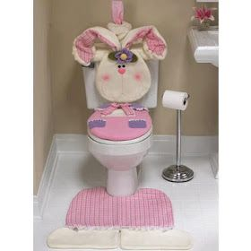 ARTESANATO COM QUIANE - Paps,Moldes,E.V.A,Feltro,Costuras,Fofuchas 3D: Inédito: Molde Jogo de Banheiro Tema Coelho