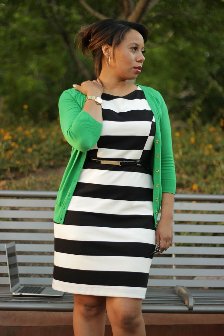 Curvy, Petite Outfit Ideas | Professional and Casual-Chic Fashion and Style Inspiration | Taking Stripes from Work to Play!