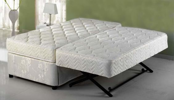 Ultimate Twin Pop Up Trundle Bed – Free shipping.   Top: Twin XL = 78.7″ x 39.5″ x 9″  Bottom: Twin = 74″ x 38″ x 9″  $1099