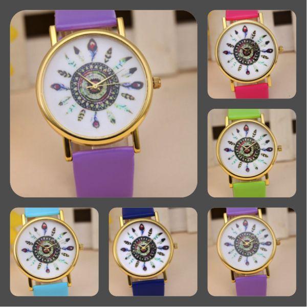 Relojes - reloj con pulsera de cuero - hecho a mano por pikmode en DaWanda