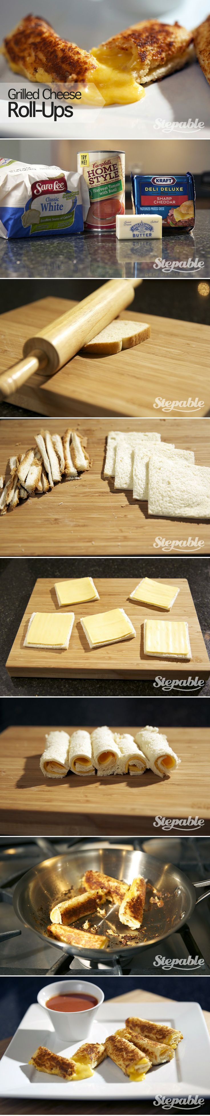 Grilled Cheese Roll-Ups ..finger comfort Good..OK!