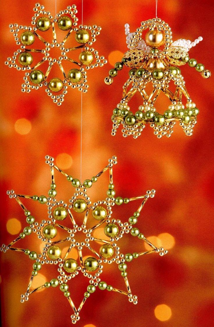 Елочные игрушки из бисера / Новогодние изделия / Biserok.org
