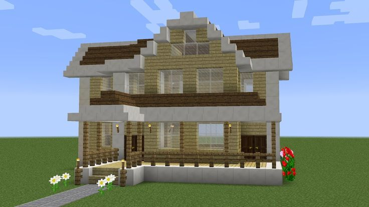 Minecraft - How to build a suburban house