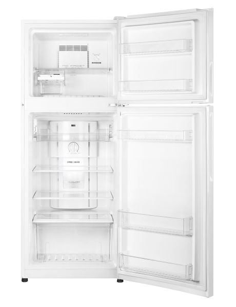 With a generous 224-litre size, this Haier fridge freezer has a classic white fi nish with all of the modern conveniences you would expect, including a fridge door shelf with space for tall bottles.