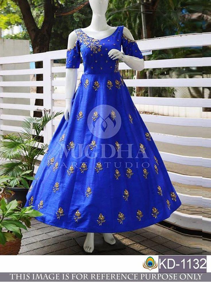 Indian Party Wear Long Anarkali Lehenga Dress Pakistani Wedding KD 1132 #FashionBazar