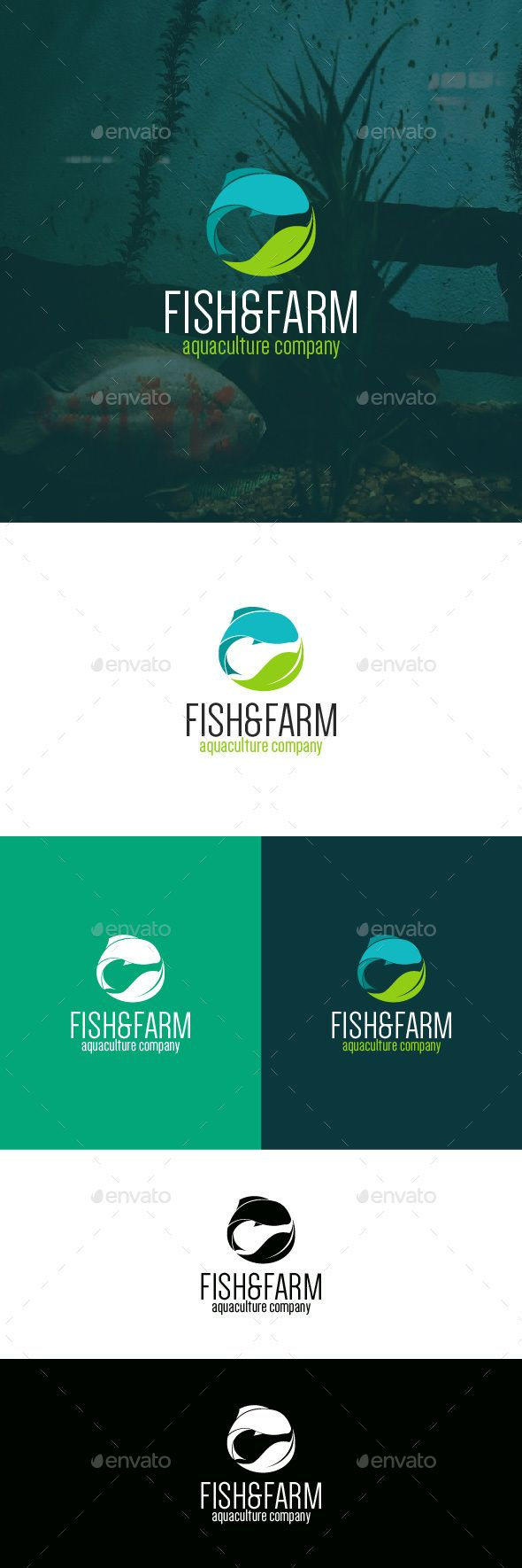 Fish & Farm - Logo Design Template Vector #logotype Download it here: graphicriv...