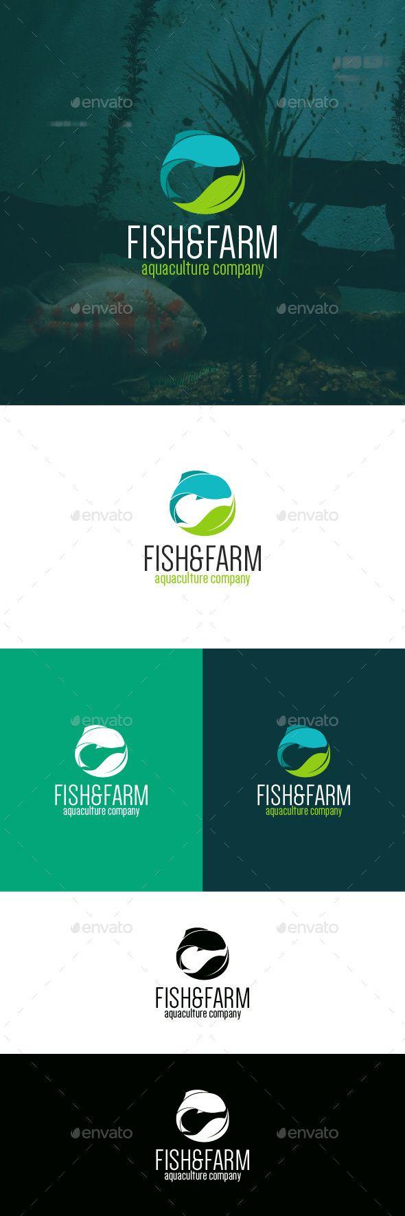 Fish & Farm - Logo Design Template Vector #logotype Download it here: http://graphicriver.net/item/fish-farm-logo-template/8983161?s_rank=640?ref=nexion