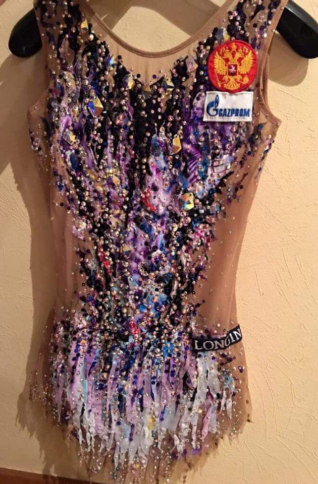 Yana's leotard. Rhythmic Gymnastics Info is on Facebook. More
