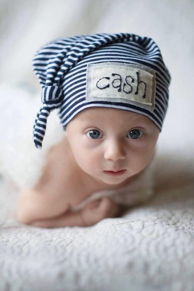 Jack Hat, personalized beanie, name hat, knot beanie, newborn hat, newborn photo prop, custom hat, baby shower gift, baby boy hat by KNOTSLLC on Etsy