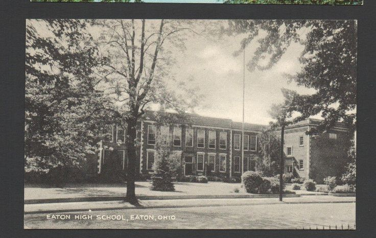Eaton High School, Eaton, Ohio Postcard