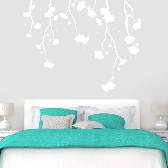 Hanging Flowers Flowers and Shapes Wall Decals