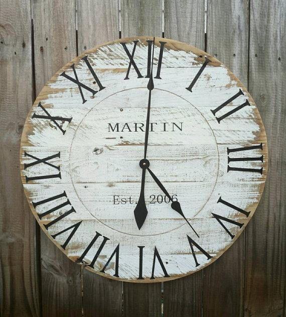 Etsy   Large reclaimed wood wall clock. #rustic #farmhouse #farmhousestyle #affiliate