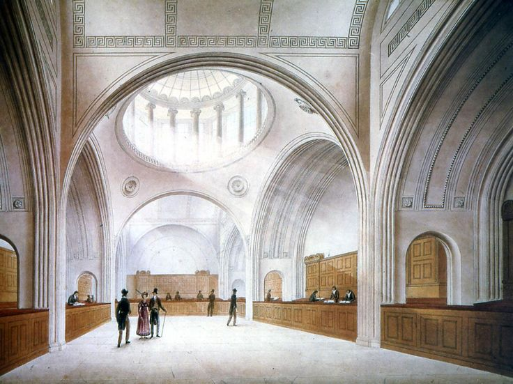"""o rich volumes and simplified ornamental themes. Some of the rooms, like the Old Colonial Office and Consols Office, reveal as majestic vaulted volumeswith natural light coming mostly form above and with references to classical themes ofdecorations.  Along with 44 models, an enormous number of drawings were createdin relation to this complex project, the most famous being the """"Bank of England represented as a ruin"""", painted in 1830 by Joseph Gandy, artist and architect and Soane's…"""