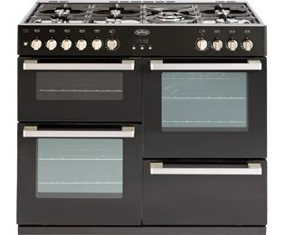 Dual Fuel Range Cookers in Black - standard width of 100 cm - ao.com