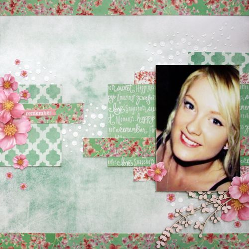 """Remember"" LO by Mistra Hoolahan DT Kaisercraft ""Cherry Blossom"" Collection - Wendy Schultz ~ Scrapbook Pages 1."