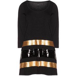 Yoek Black / Gold Plus Size Shirt with sequins