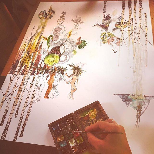 #art #newzealand #trip #artwork #drawing #painting #painting #steadler #bop #women #marionbeaupere #festival